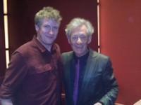 Alex with Sir Ian McKellen